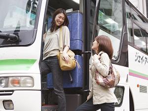 無料送迎バスでらくらく!